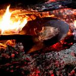 Steak on a shoevel - busz pod Mt Augustus - Australia Zachodnia
