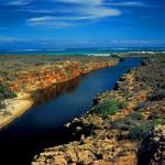 Yardi Creek - ujście do Oceanu Indyjskiego - Park Narodowy Ningaloo Reef - Australia Zachodnia