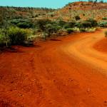 Outback - droga z Mt Augustus na północ - Australia Zachodnia