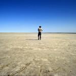 Jezioro Eyre - największe jezioro Australii, także największa depresja kontynentu, 84 razy większe od Śniardw - Australia Południowa